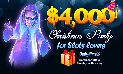 $4,000 Christmas Party for Slots lovers