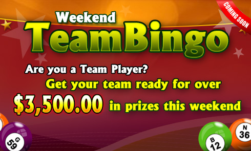 $3,500.00 Team Bingo Tourney